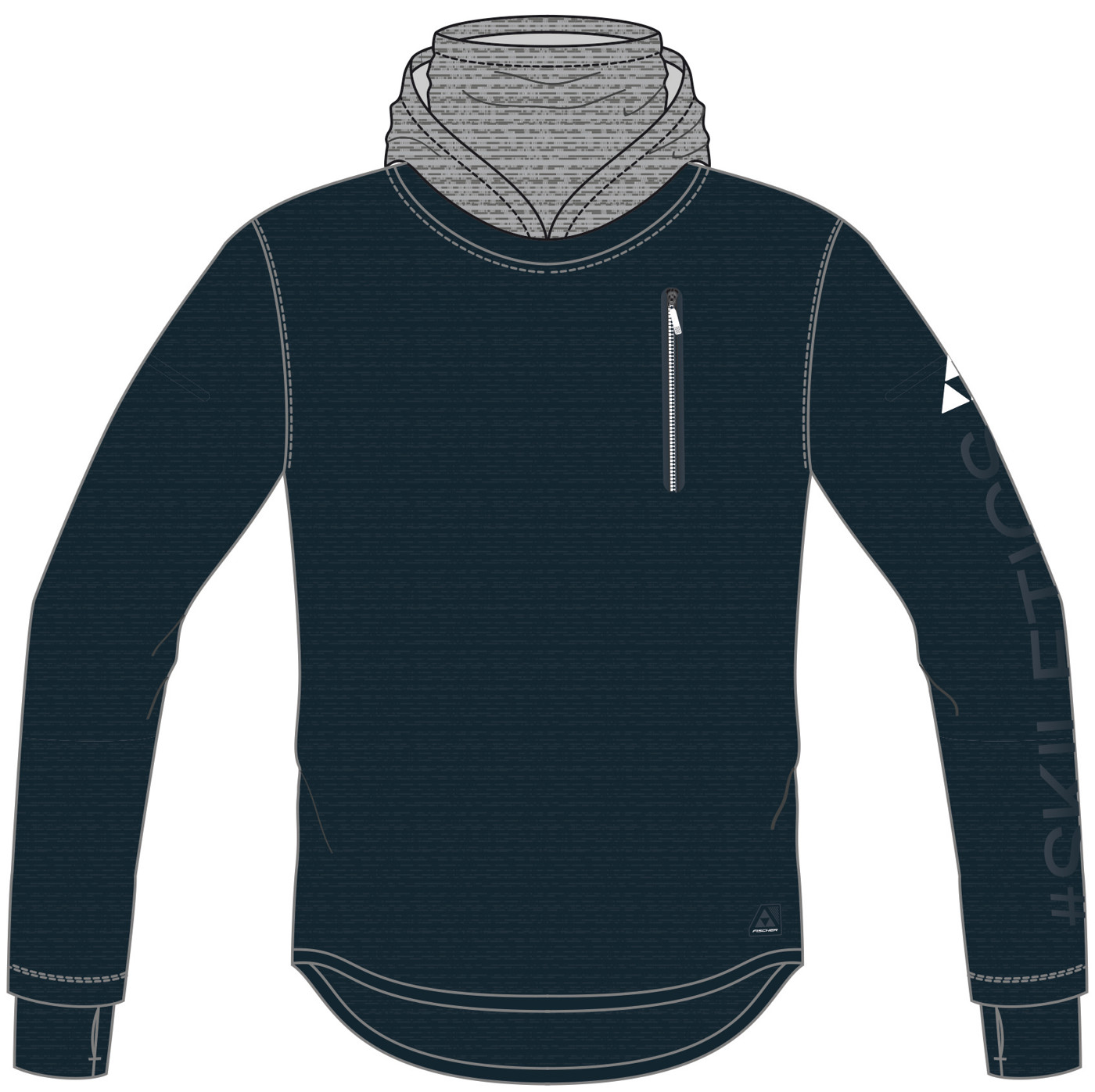 FISCHER SKILETICS HOODY SWEATER - Herren