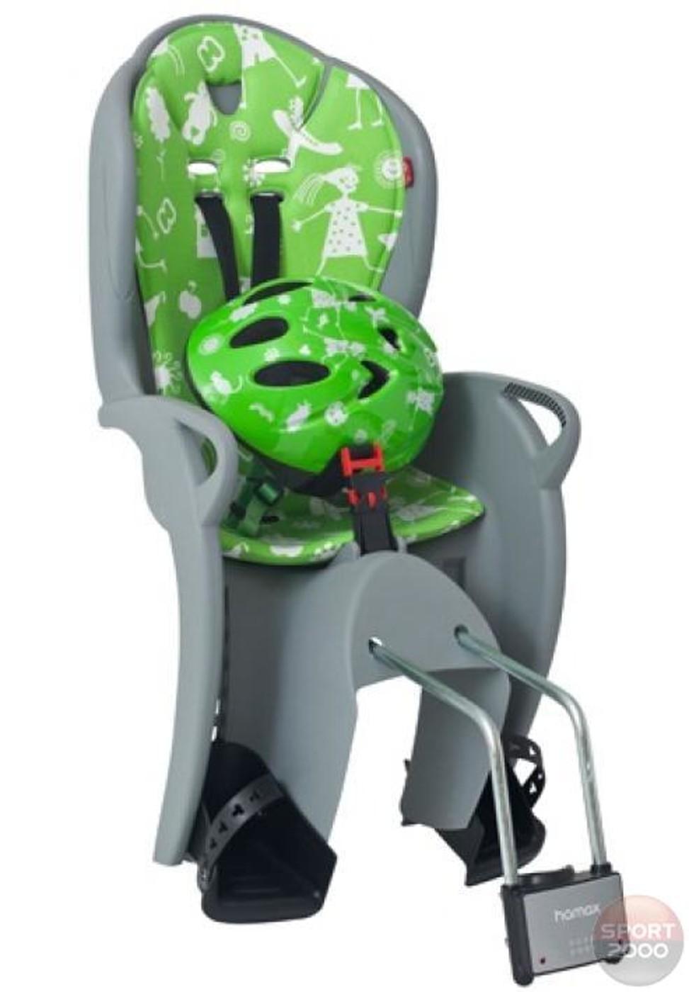 HAMAX Fahrradsitz KISS+Helm Set