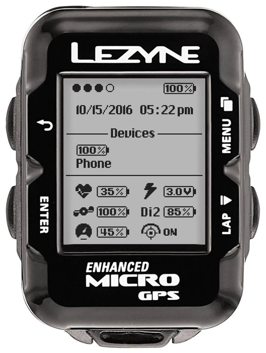 LEZYNE Radcomputer MICRO GPS HRSC schwarz