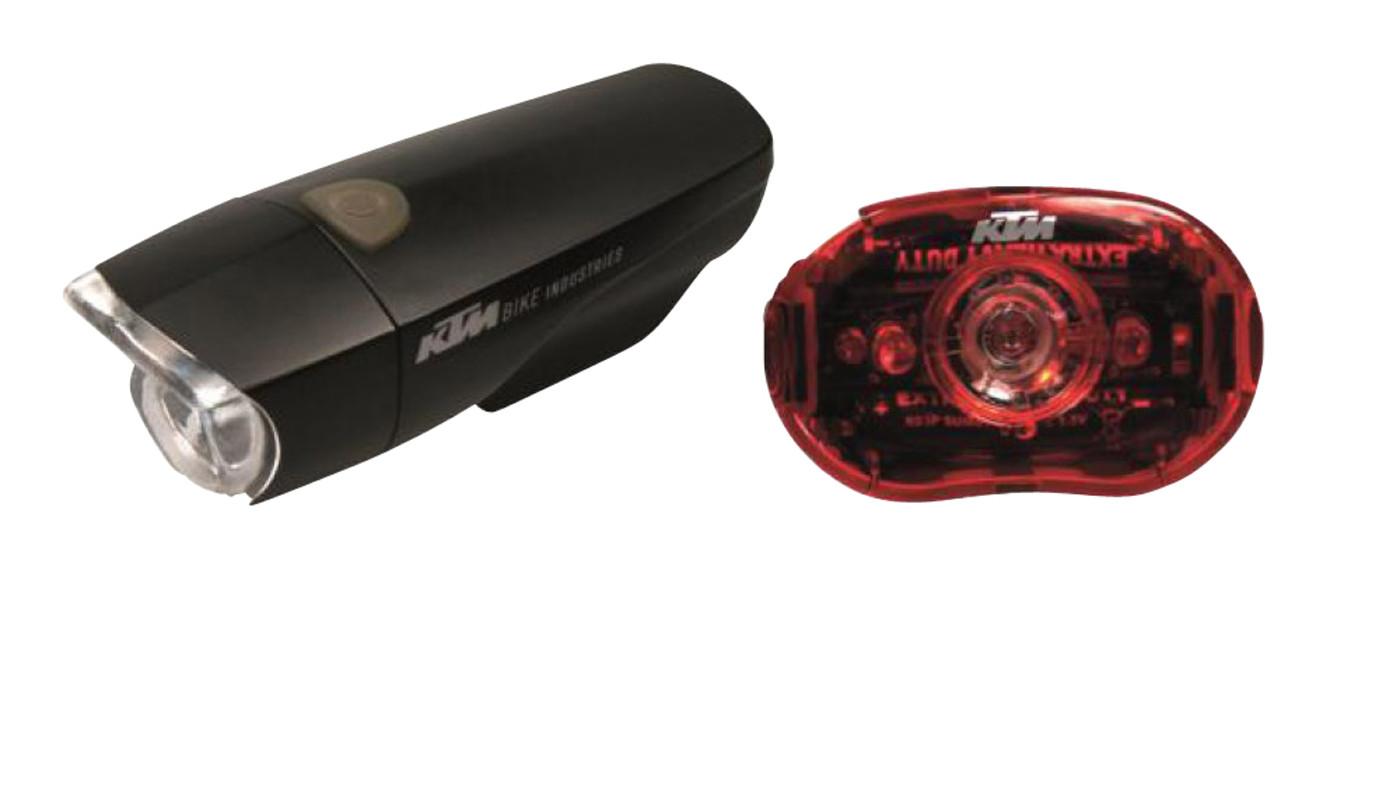 KTM Lampenset vorne 1 LED 1W & hinten 0,5W