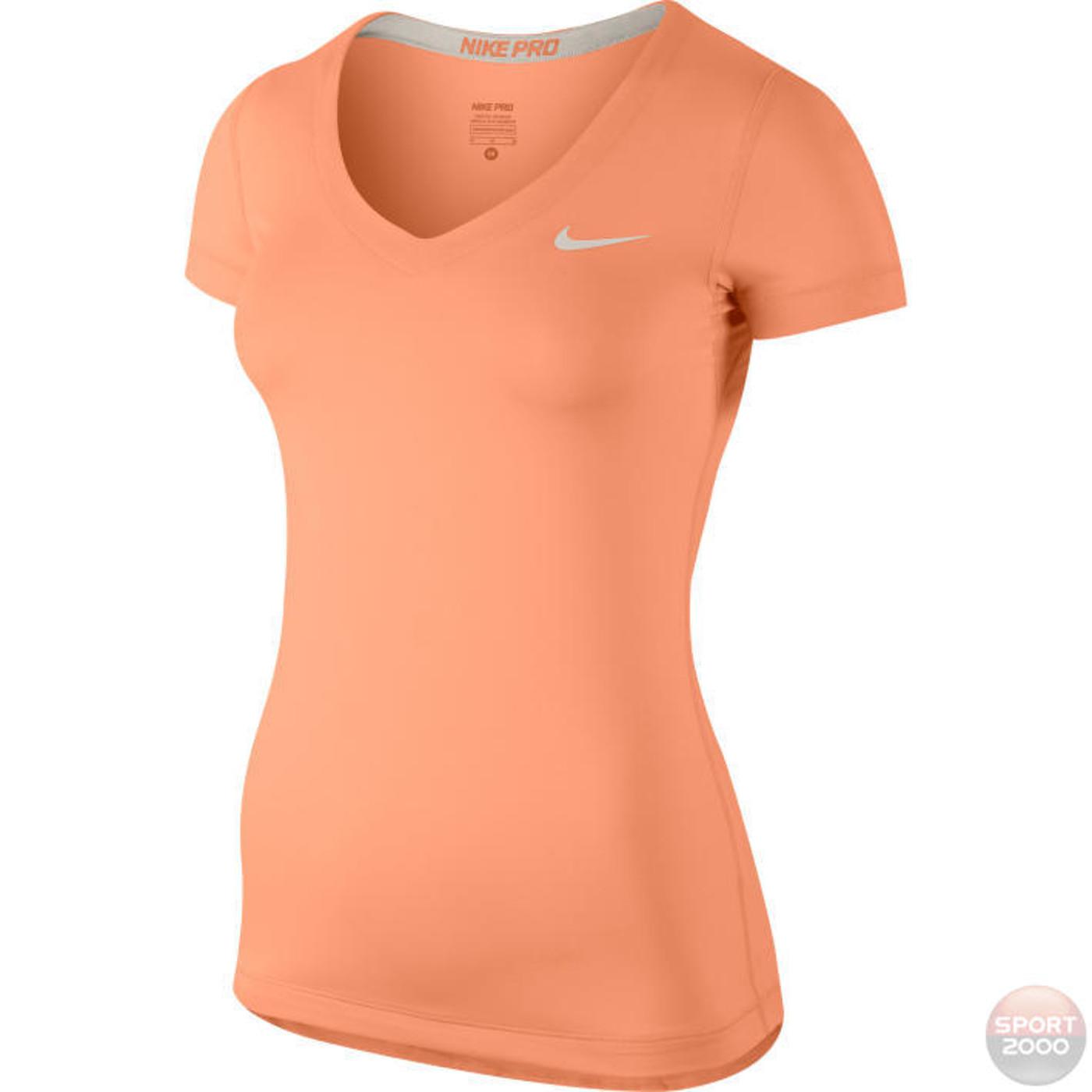 NIKE MO FIT Shirt PRO V-NECK - Damen