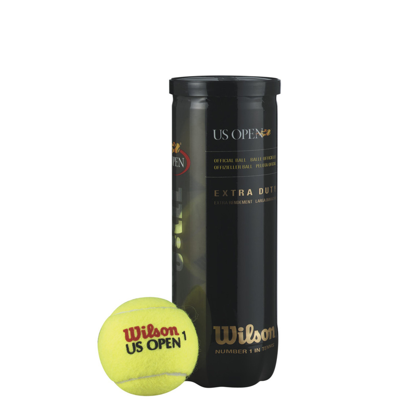 WILSON Tennisball US OPEN 3er
